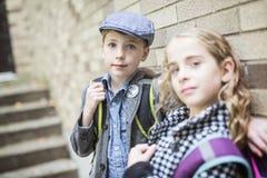 Niño pre adolescente en la escuela Imagen de archivo