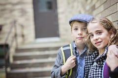 Niño pre adolescente en la escuela Imágenes de archivo libres de regalías
