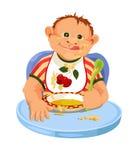 Niño que come el desayuno Fotografía de archivo libre de regalías