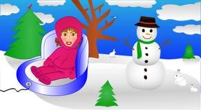 Niño que disfruta de invierno Foto de archivo libre de regalías