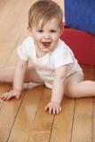 Niño que juega con los bloques Imagen de archivo