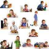 Niño que juega determinado Foto de archivo
