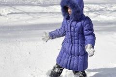 Niño en invierno Imagen de archivo libre de regalías