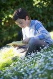 Niño que lee un libro Imagen de archivo libre de regalías