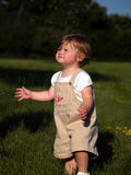 Niño que persigue burbujas Foto de archivo libre de regalías