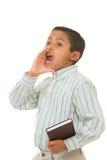 Niño que predica con voz ruidosa Fotos de archivo libres de regalías