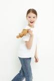 Niño que sostiene el juguete Foto de archivo