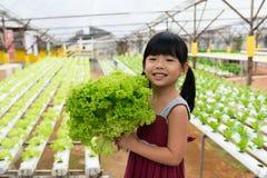 Niño que sostiene la verdura imagenes de archivo