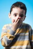 Niño silenciado Imágenes de archivo libres de regalías