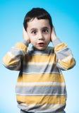 Niño silenciado Fotos de archivo