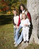 Niño tres del otoño Fotos de archivo libres de regalías