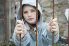 Niño triste Imagen de archivo libre de regalías