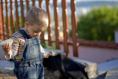 Niño triste Fotografía de archivo