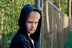 Niño triste del trastorno Fotos de archivo