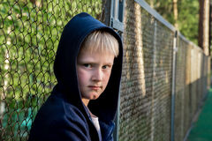 Niño triste del trastorno Imagen de archivo libre de regalías