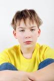 Niño triste en el hogar Fotos de archivo