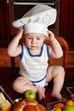 Niño y alimento Imagen de archivo