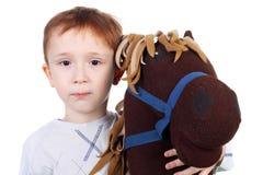 Niño y caballo imagen de archivo libre de regalías