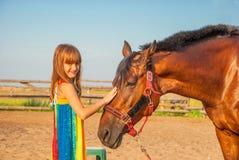 Niño y caballo Fotografía de archivo