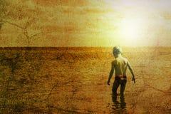 Niño y el mar Fotos de archivo libres de regalías