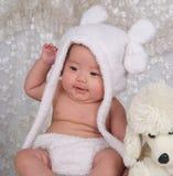 Niño y juguete felices Imagen de archivo