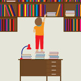 Niño y libros Lectura, educación, conocimiento, aprendiendo Fotografía de archivo