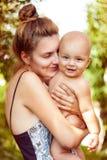 Niño y madre Foto de archivo libre de regalías