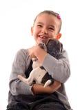 Niño y perrito Fotografía de archivo libre de regalías