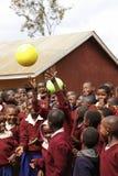 Niños africanos en la escuela, Tanzania Imagen de archivo