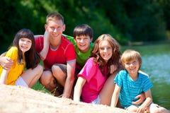 Niños al aire libre Imágenes de archivo libres de regalías