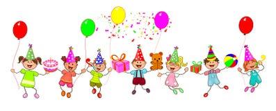 Niños alegres con los regalos libre illustration