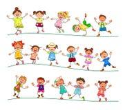 Niños alegres para un paseo ilustración del vector