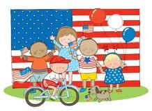 Niños americanos Imagen de archivo libre de regalías