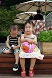 Niños asiáticos Foto de archivo libre de regalías