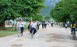 Niños asiáticos, alumno vietnamita del campo Imagen de archivo libre de regalías