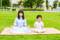 Niños asiáticos budistas Imagen de archivo libre de regalías