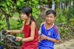 Niños asiáticos felices Imágenes de archivo libres de regalías