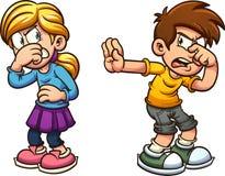 Niños asqueados stock de ilustración