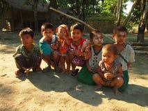 Niños Birmania foto de archivo