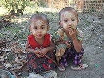 Niños Birmania imagen de archivo