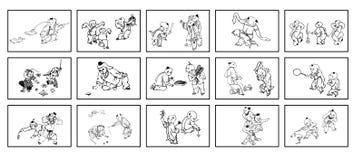 Niños chinos y juego tradicional Imagen de archivo