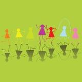 Niños coloreados Imagen de archivo libre de regalías