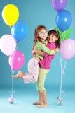 Niños coloridos felices Imagen de archivo