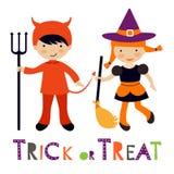 Niños coloridos lindos de Halloween fijados Fotos de archivo libres de regalías