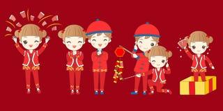 Niños con Año Nuevo chino