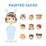 Niños con colores ilustración del vector