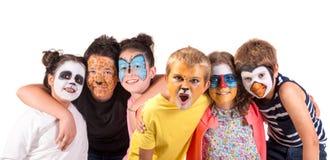 Niños con la cara-pintura imagen de archivo libre de regalías