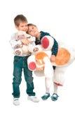 Niños con los juguetes Imágenes de archivo libres de regalías