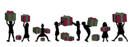 Niños con los regalos libre illustration