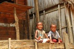 Niños de África, Madagascar Foto de archivo